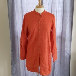 J.Jill orange linen tunic size s